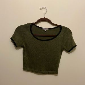 FREE W PURCHASE Charlotte Russe green crop top